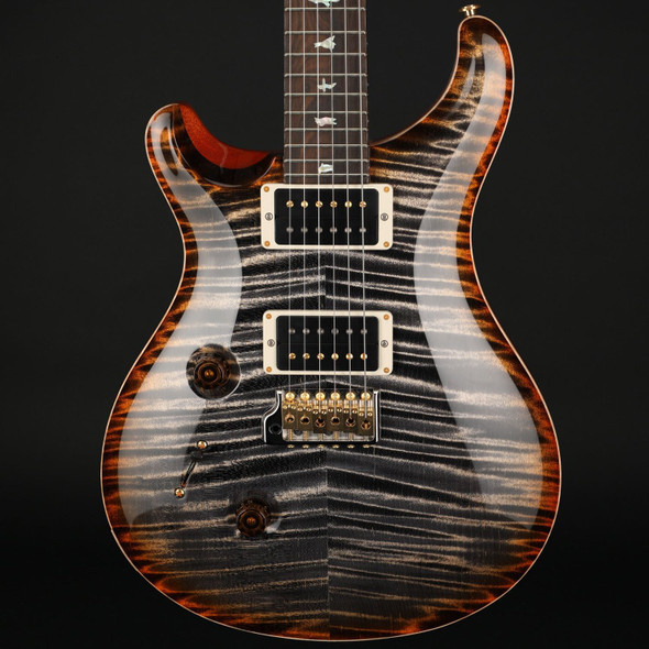 PRS Wood Library Custom 24 10-Top Left Handed in Burnt Maple Leaf, Ziricote Fingerboard #0311166