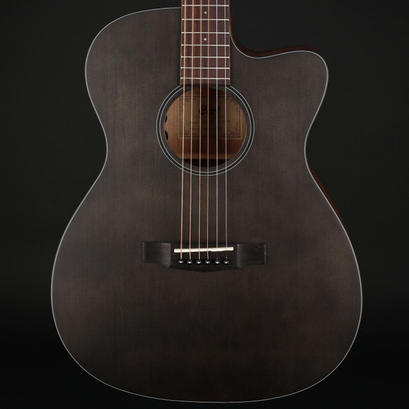 Cort Core-OC Spruce Open Pore in Trans Black with Gig Bag