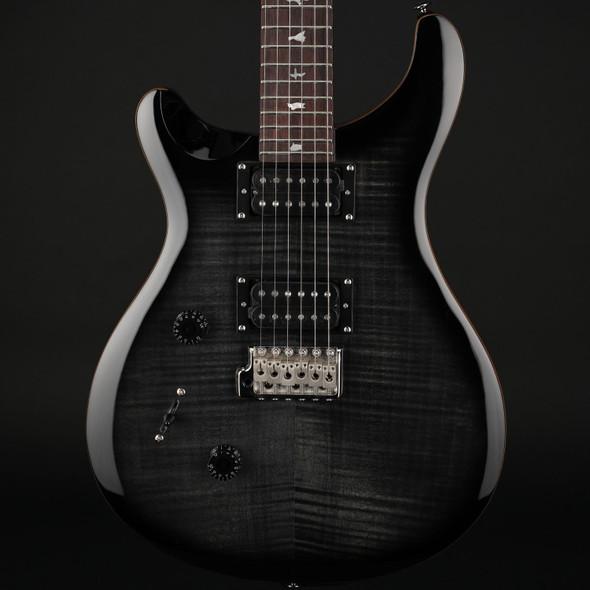 PRS SE Custom 24 Left-Handed in Charcoal Burst with Gig Bag #C52394