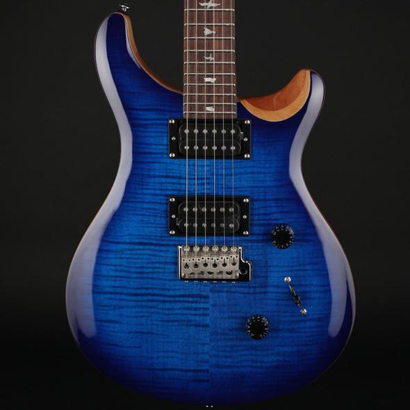 PRS SE Custom 24 in Faded Blue Burst with Gig Bag #D02745