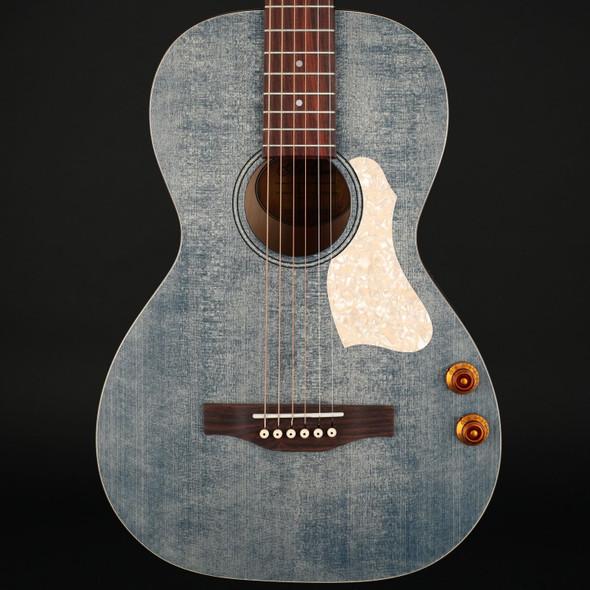 Art & Lutherie Roadhouse Parlor Q-Discrete Electro Acoustic Guitar in Denim Blue