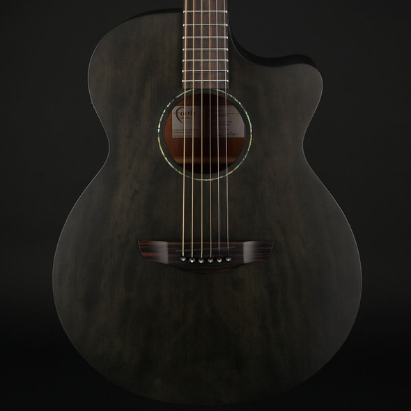 Faith Naked Venus Cutaway Electro Acoustic in Black Stain with Gig Bag #201242411