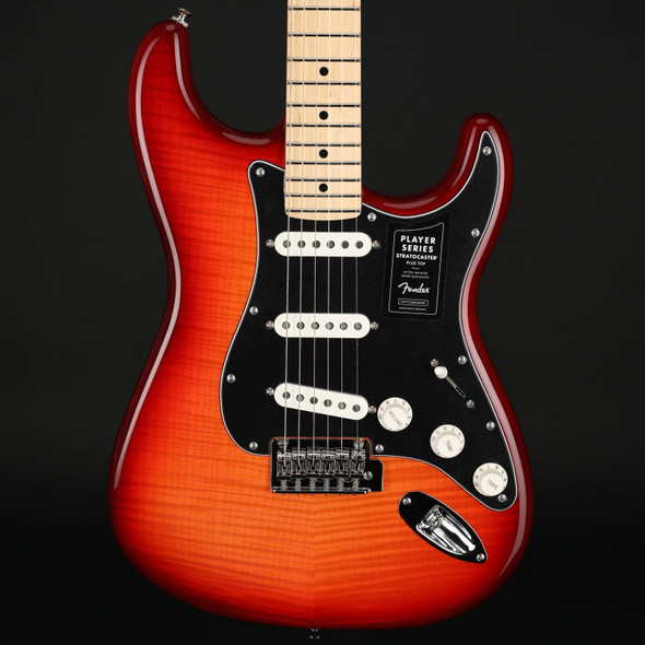 Fender Player Stratocaster Plus Top, Maple Fingerboard in Aged Cherry  #MX21042380