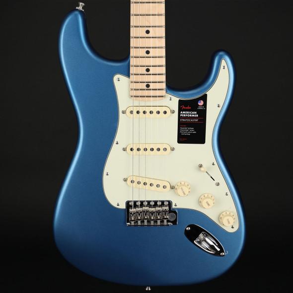 Fender American Performer Stratocaster, Maple Fingerboard in Satin Lake Placid Blue #US210016990