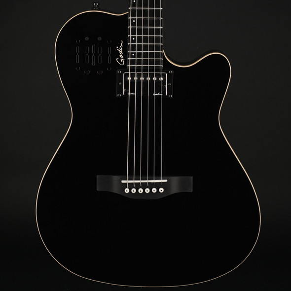 Godin A6 Ultra in Black HG with Bag #21354113
