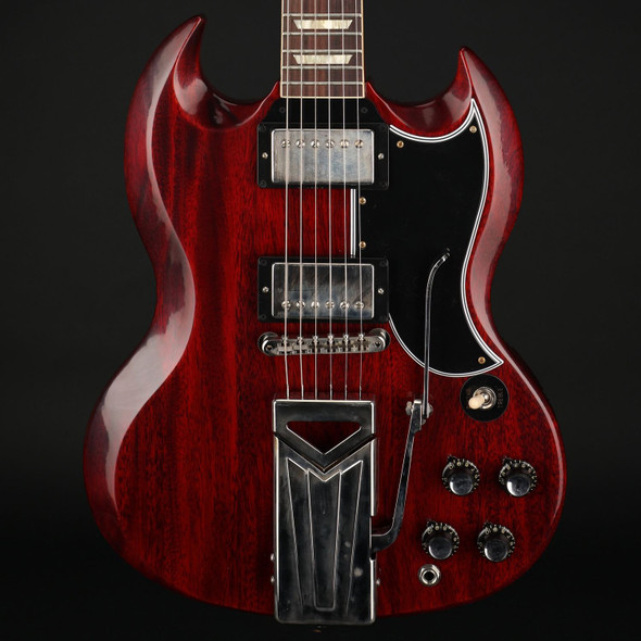 Gibson Custom Shop 60th Anniversary 1961 SG Les Paul Standard with Sideways Vibrola in Cherry Red VOS #104401