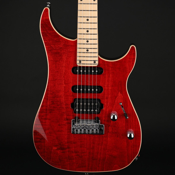 Vigier Excalibur Ultra Blues HSS, Maple in Ruby with Gig Bag #210162
