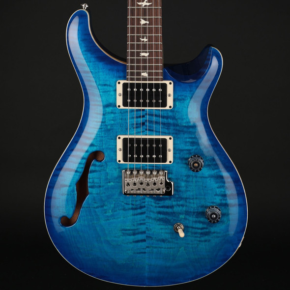 PRS CE24 Semi-Hollow in Blue Matteo Blue Burst Custom Colour #0323917