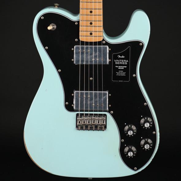 Fender Vintera Road Worn '70s Telecaster Deluxe, Maple Fingerboard in Daphne Blue #MX21110092