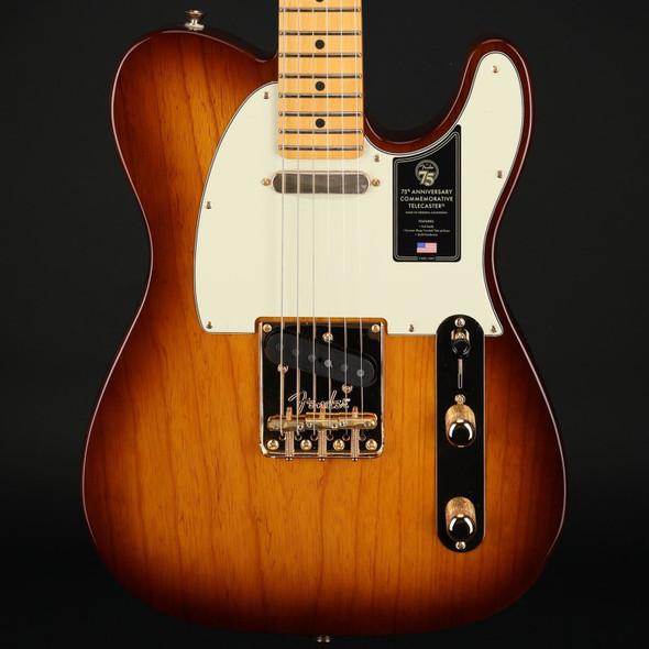 Fender 75th Anniversary Commemorative Telecaster, Maple Fingerboard in 2-Color Bourbon Burst #US21007897
