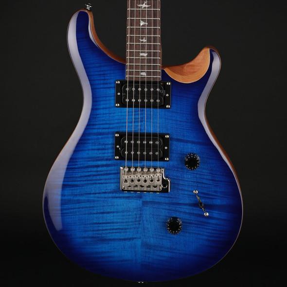 PRS SE Custom 24 in Faded Blue Burst with Gig Bag #D21130
