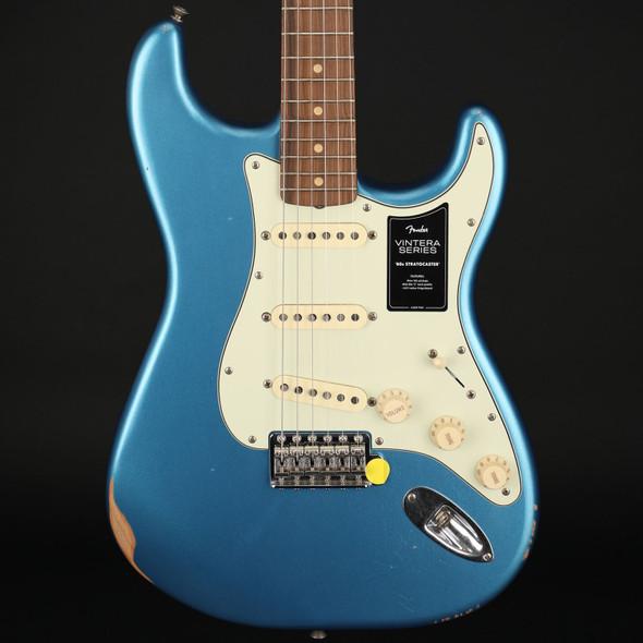 Fender Vintera Road Worn '60s Stratocaster, Pau Ferro Fingerboard in Lake Placid Blue #MX21103498