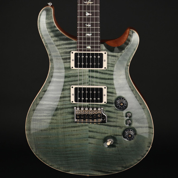 PRS Custom 24 35th Anniversary in Trampas Green with Pattern Thin Neck #0323201