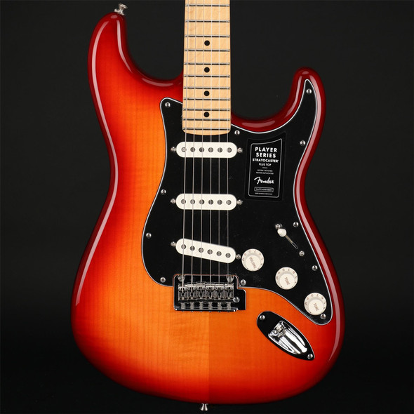 Fender Player Stratocaster Plus Top, Maple Fingerboard in Aged Cherry #MX21134319