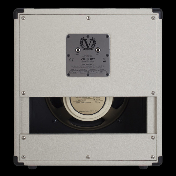 Victory V112C 1x12 Cabinet with Celestion G12M-65 Creamback in White