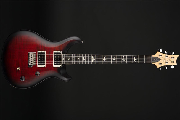 PRS CE24 Satin Nitro Finish Limited Edition in Faded Fire Red Smokeburst #271461