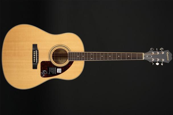 Epiphone AJ-220S Solid Top Acoustic Guitar in Natural