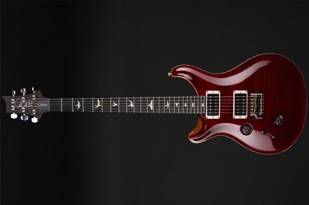 PRS Custom 24 10 Top Left Handed in Red Tiger, Pattern Regular, Ebony, 85/15s #244850
