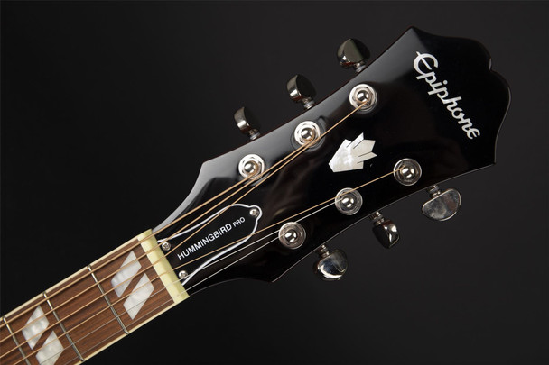 Epiphone Hummingbird Pro Acoustic Electric Guitar in Faded Cherry Burst