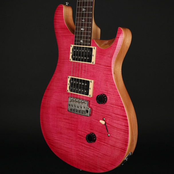 PRS SE Custom 24 in Bonnie Pink with Natural Back #C43905
