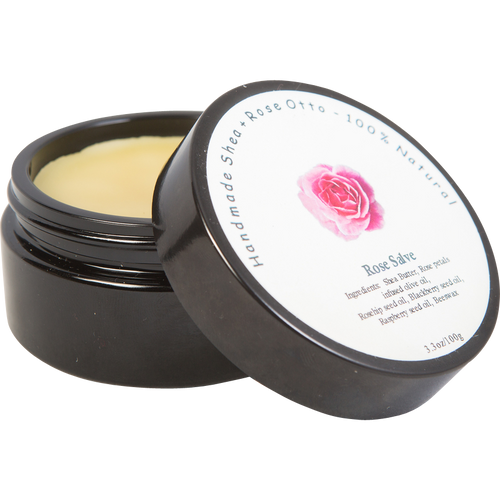 Bulgarian Rose Balm in Ultra Violet Glass Jar