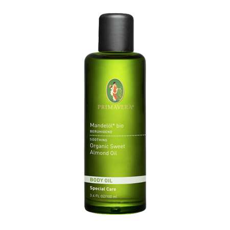 Primavera Almond oil is a classic oil.  Used to beautify the skin and treat injuries.