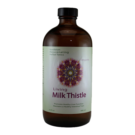 Organic Living Fermented Milk Thistle probiotic supplement 16 fl oz