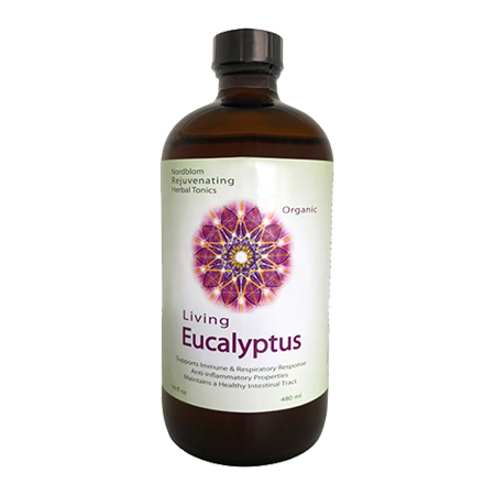 Organic Living Fermented Eucalyptus probiotic supplement 16fl oz