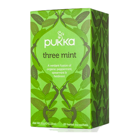 Three Mint Pukka Tea 20 ct.