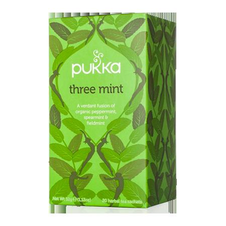 Three Mint Pukka Tea 20 ct.