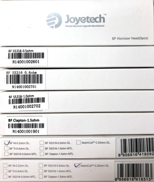 Joyetech Ego AIO Coil / Cubis Coil (5 Pack)