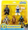 Fisher Price DC Super Friends Imaginext Batman, Cyborg, Blue Beetle, Scarecrow & Captain Cold 3-Inch Figure 5-Pack
