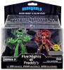 Funko Five Nights at Freddy's Hero World Series 2 Glow Freddy & Glow Foxy Exclusive 4-Inch Vinyl Figure 2-Pack