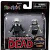 The Walking Dead Minimates Black & White Winter Coat Dale & Female Zombie Exclusive Minifigure 2-Pack