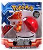Pokemon Clip n Carry Pokeball Charmander with Poke Ball Figure Set