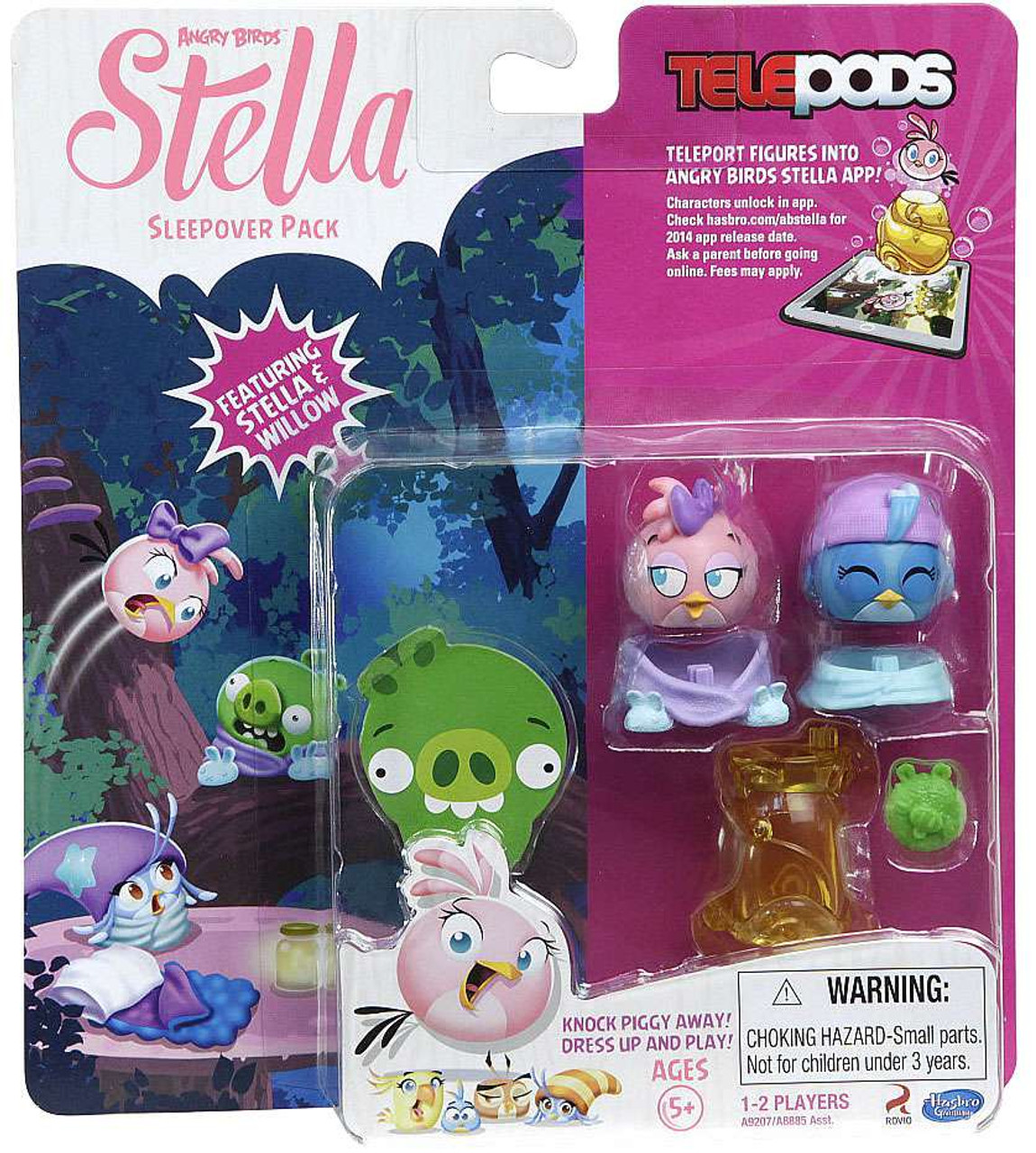Hasbro Angry Birds Stella  Knock Piggy Away TelePODS Featuring Gale