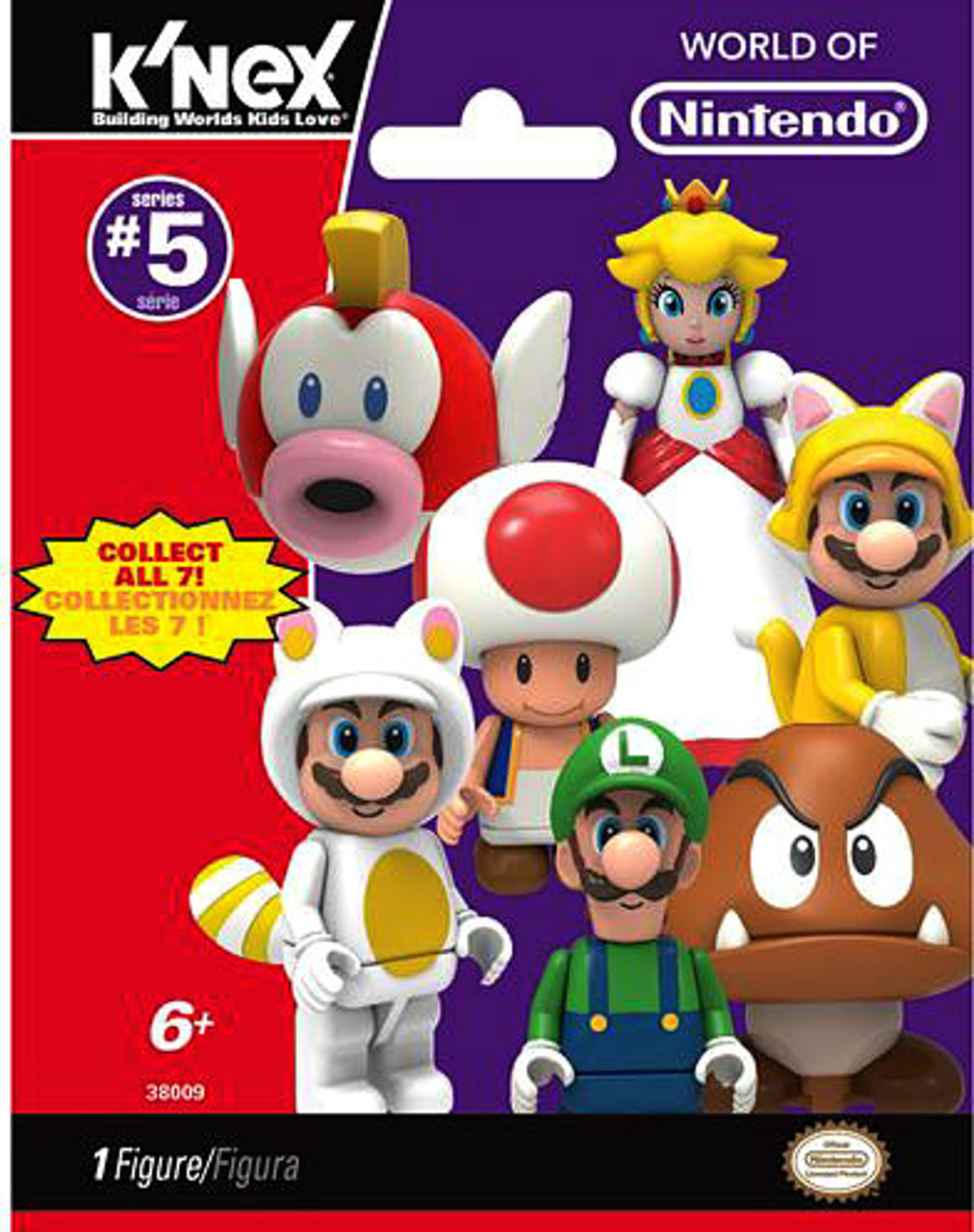 New 5 PACKS K/'nex Super Mario Series 5 Mystery Blind Bag Figures Official