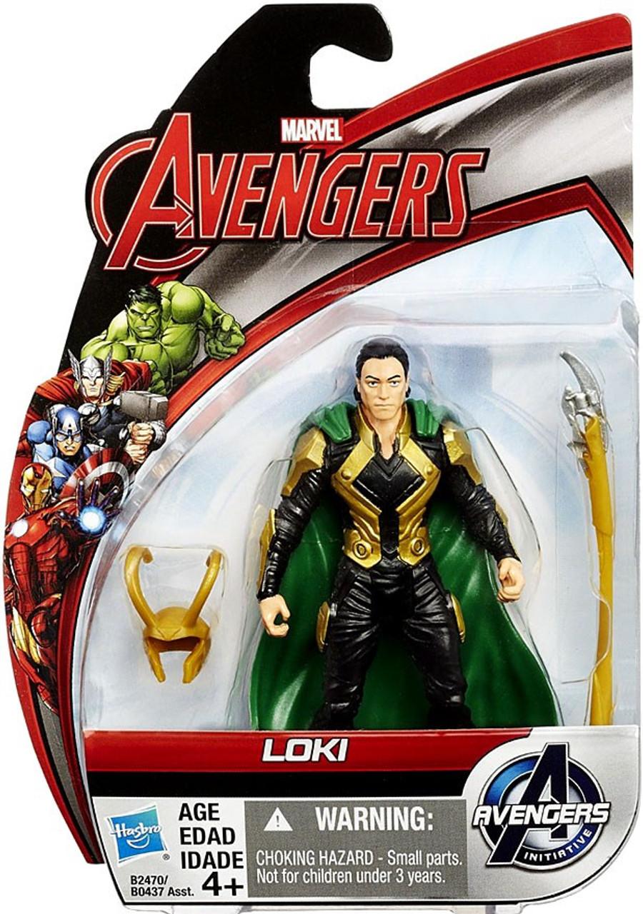 ac02d5df77dd4a Marvel Avengers Age of Ultron All Stars Loki 3.75 Action Figure Hasbro Toys  - ToyWiz