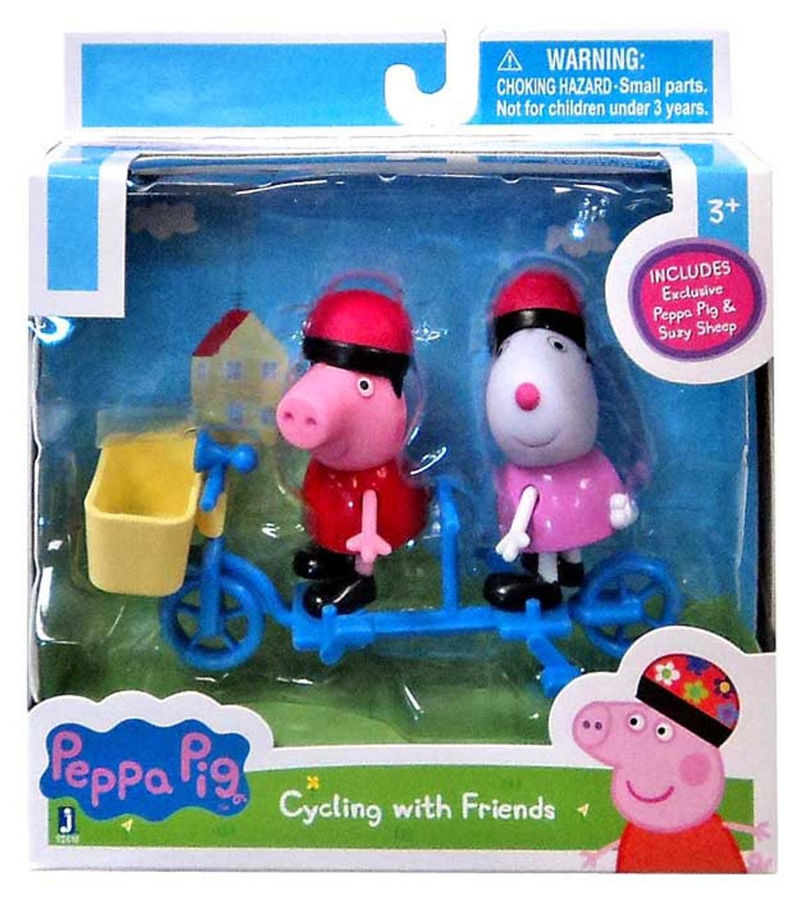 Peppa Pig Bicycle Mini Figure 2 Pack Jazwares Toywiz