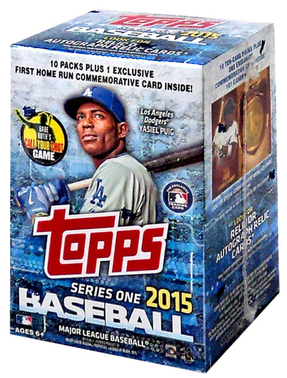 Mlb 2015 Series 1 Baseball Trading Card Blaster Box 10 Packs