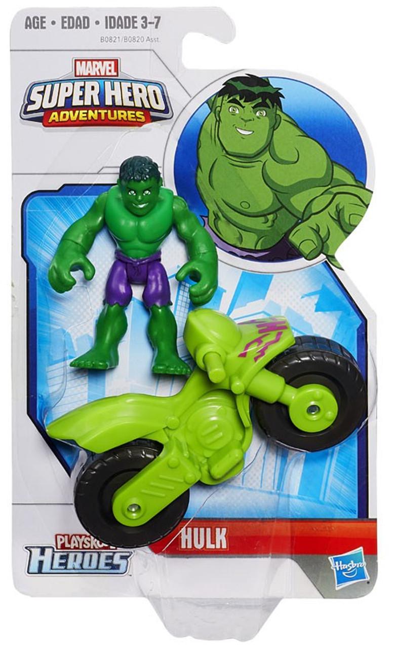 Marvel Playskool Hulk Adventures Hulk Light Green From Cycle Racer Pack