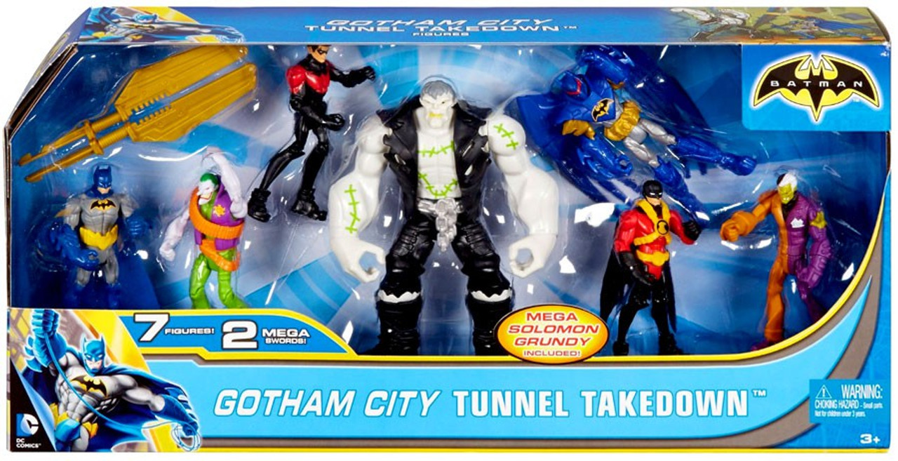 2999e183aed9 Batman Unlimited Gotham City Tunnel Takedown 4 Action Figure 7-Pack ...