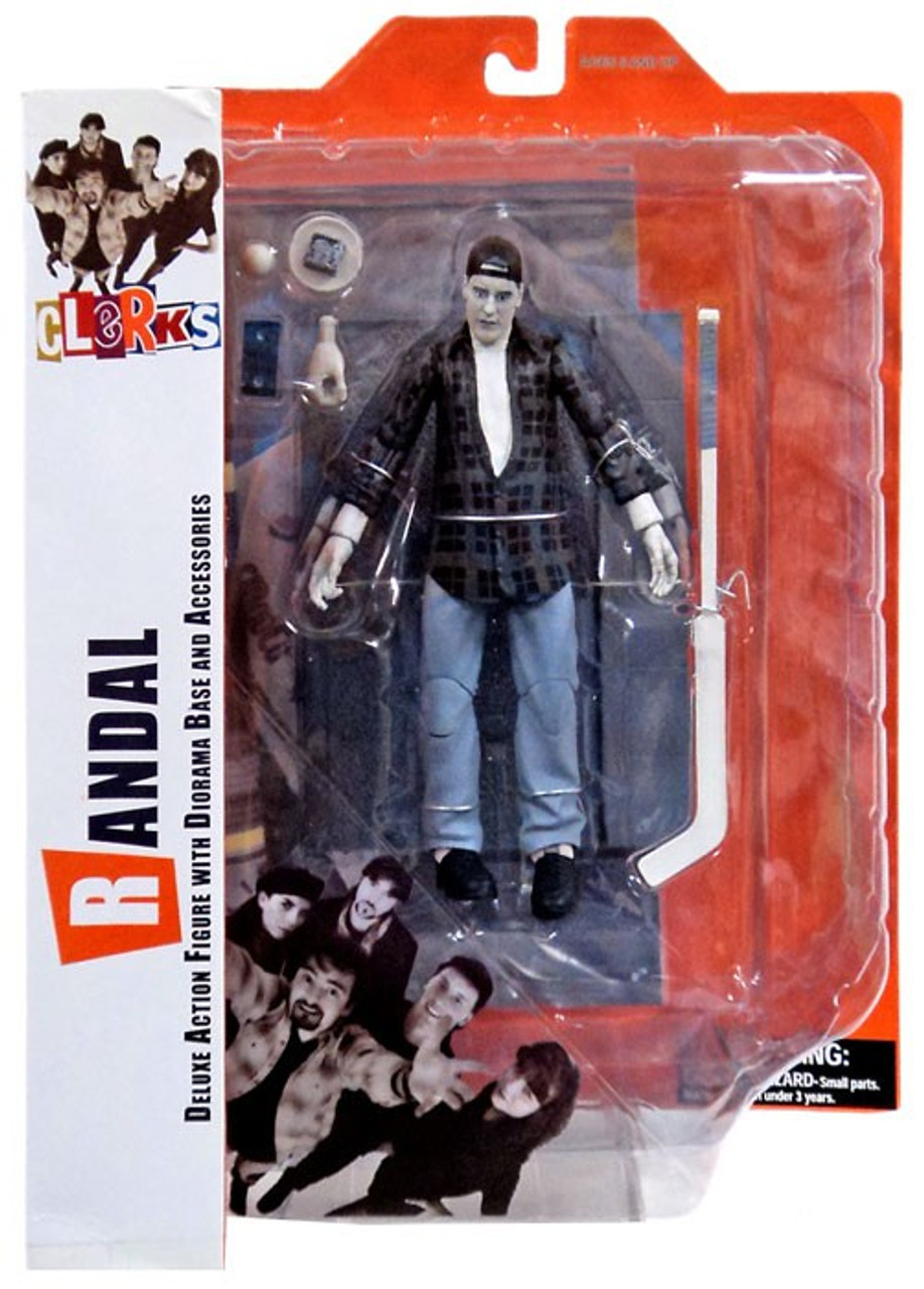 Diamond Select Toys Clerks Randal B/&W Action Figure with Base and Accessories