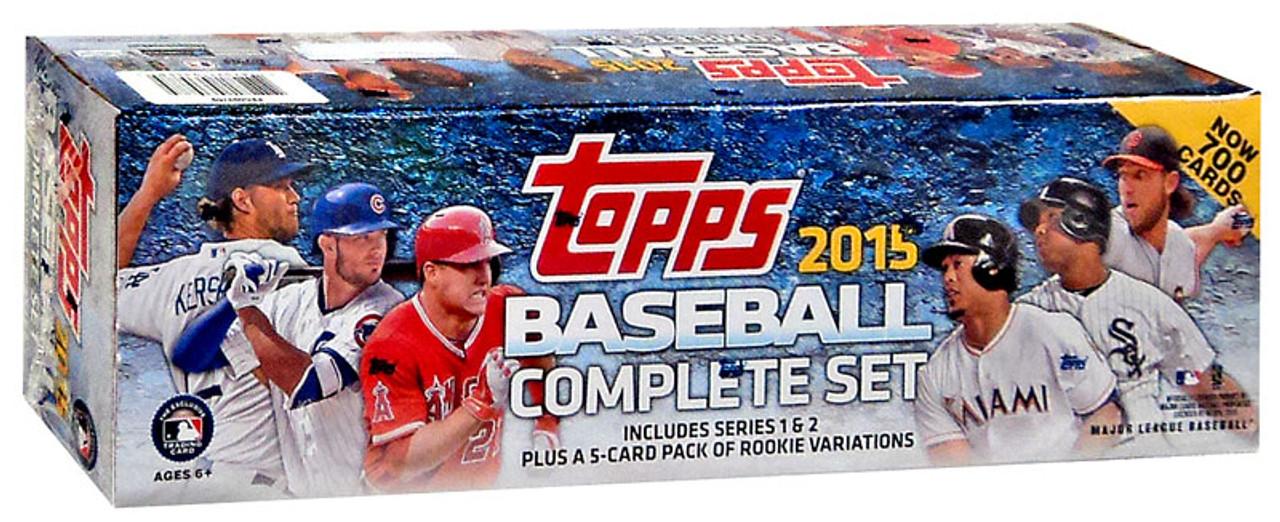 Mlb 2015 Topps Baseball Cards Series 1 Series 2 Trading Card Set Retail