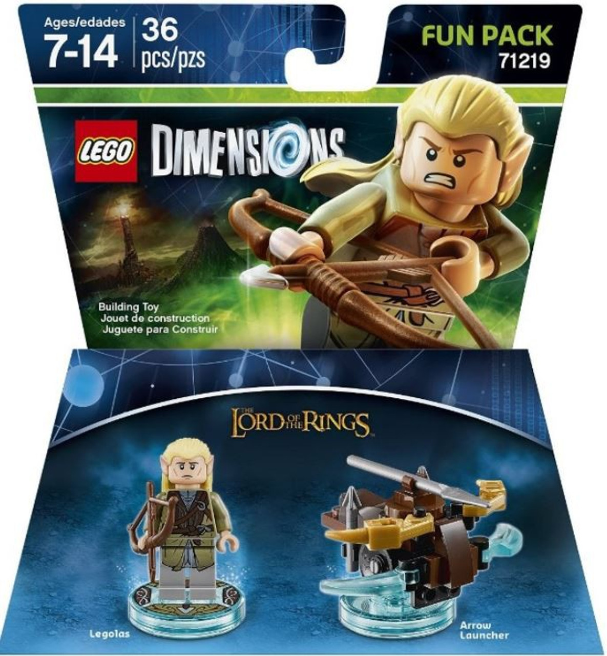 Lego Dimensions Lord of The Rings Fun Packs 71220 Gimli /& 71219 Legolas  New Lot