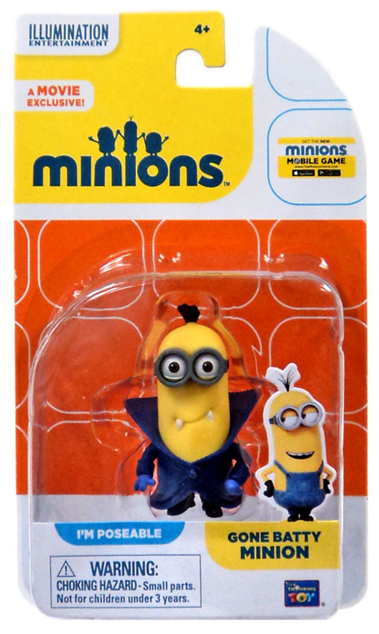 Despicable Me Minions Movie Gone Batty Minion 2 Action FIgure Think Way - ToyWiz