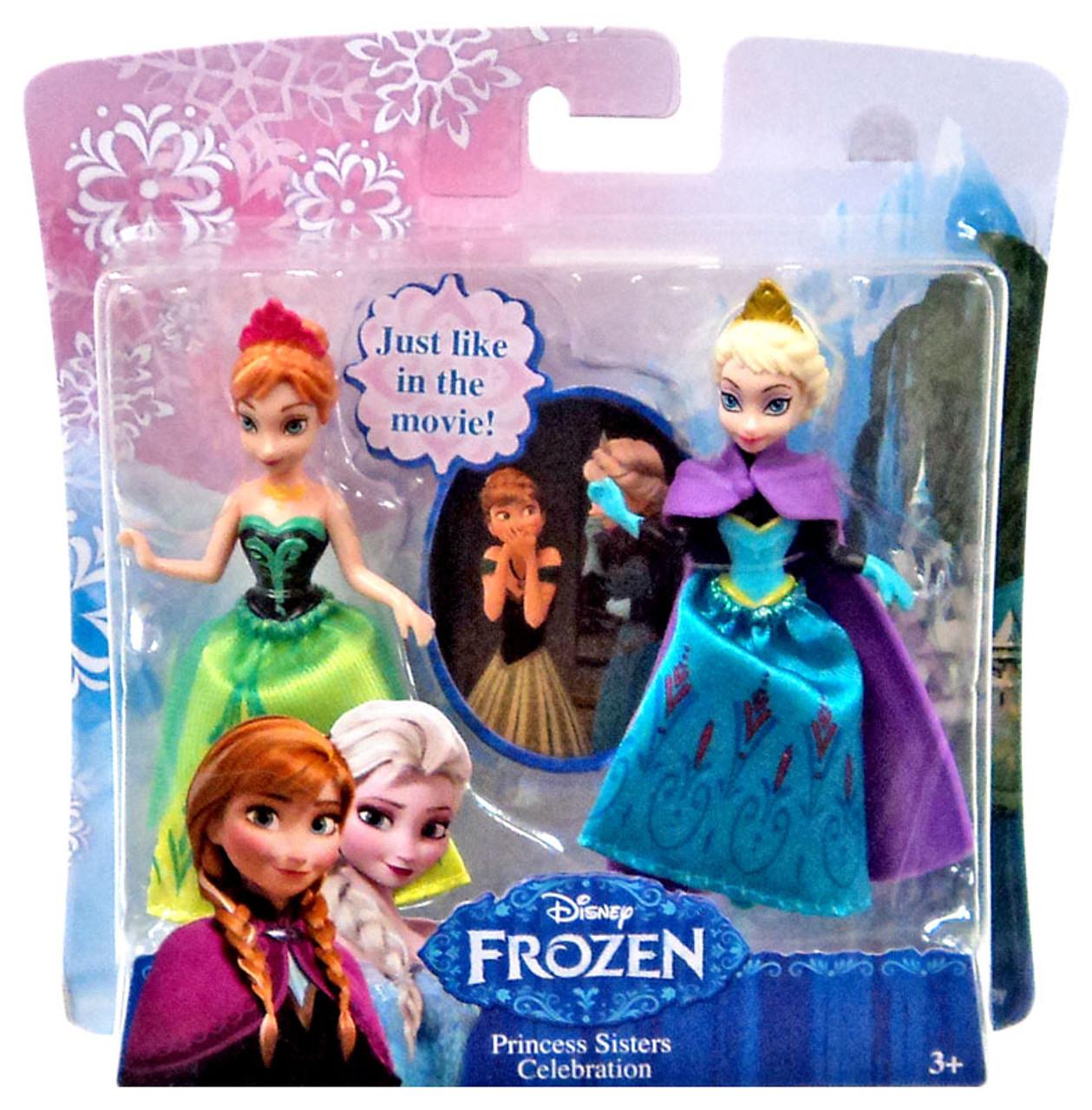 "NEW Mattel 2013 Exclusive Disney Frozen 2 Pack 12/"" Doll Elsa /& Anna of Arendelle"