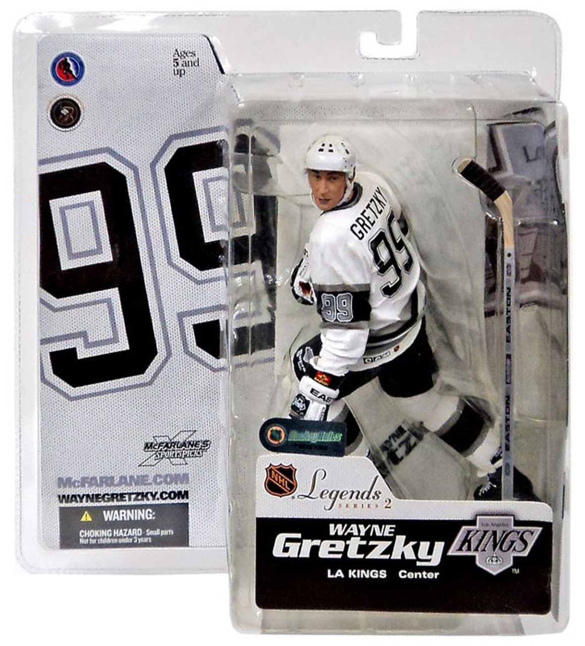save off 88ec2 ce9dc McFarlane Toys NHL Los Angeles Kings Sports Picks Legends Series 2 Wayne  Gretzky Action Figure [White Jersey]