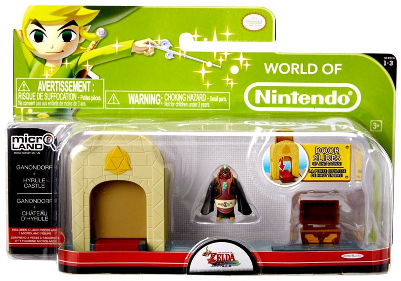 World of Nintendo New Super Mario Bros U Micro Land Playset Hyrule Castle &  Ganondorf Playset