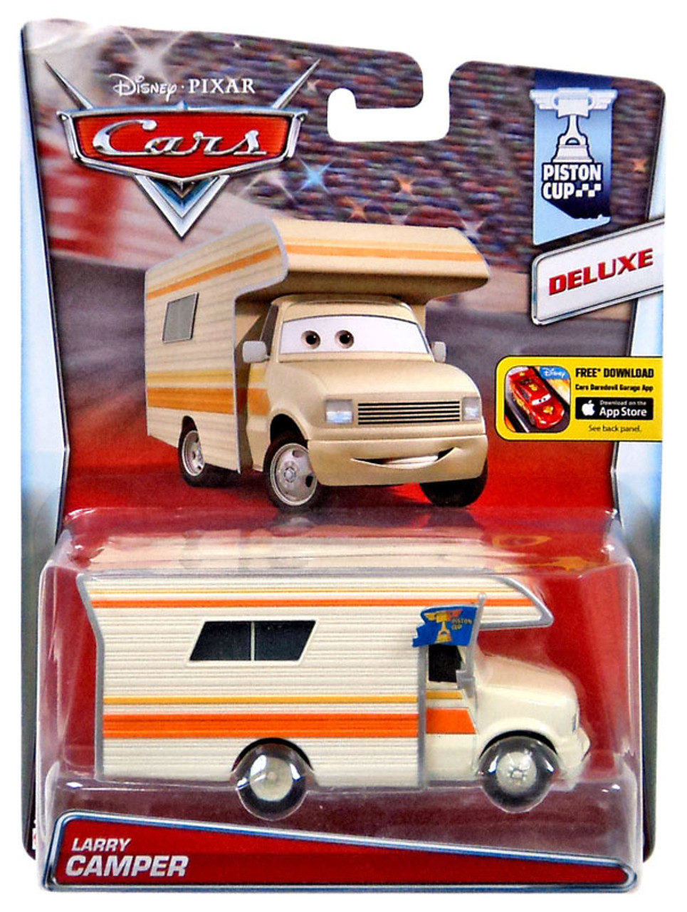 Disney / Pixar Cars Piston Cup Larry Camper Diecast Car #18/18
